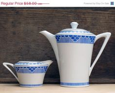 SALE Set of Pretty french vintage Teapot and milk by FrenchMelody