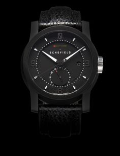 Super limited mechanical watch from and English watch company Schofield. This is the Schofield Signalman DLC GMT PR