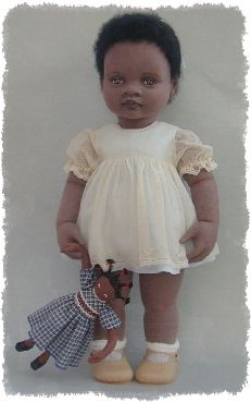 cloth toddler  Teresa Churcher (don't know if really vintage, but I HAD to include her, because she's so wonderful!)