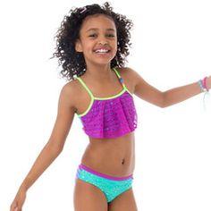 Purple Happy Face Cutout Bikini