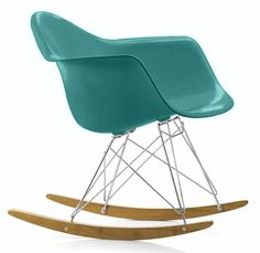 VITRA houpací židle RAR azurová
