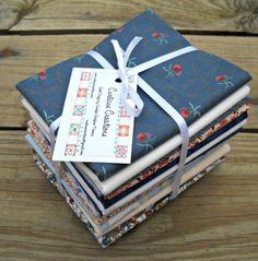 Vintage Fabric Fat Quarter Sampler Elisabeta by CurlicueCreations, $15.00