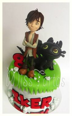 Hiccup & Toothless, How To Train Your Dragon Cake - by Miss Tartas