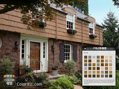 I needed to find the perfect paint color to compliment this brownstone! Used the Color911 app as the perfect DIY color guide!   Use the Color911 app to find your inspiration! #Color911 #color #app