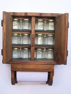 especiero de madera, 12f. con portarrollo. diseños exclusivo