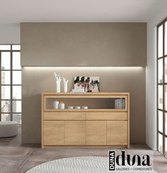 Aparadores y Buffets para salones y comedores de BaixModuls Small Hallway Table, Small Hallways, Cabinet Furniture, Furniture Design, Minimalist Dining Room, Muebles Living, Tv Cabinets, Modern Interior Design, Home Furnishings
