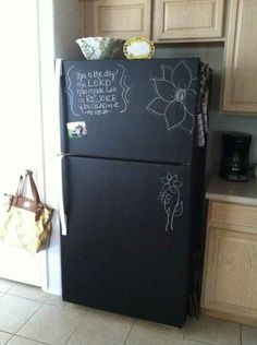 Or give it a coat of chalkboard paint. | 36 Genius Ways To Hide The Eyesores In Your Home