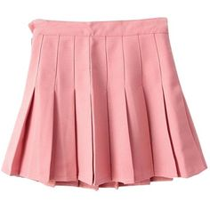 Yasong Women Girls Short High Waist Pleated Skater Tennis Skirt School... (£11) ❤ liked on Polyvore featuring skirts, bottoms, clothing - skirts, pink and filler