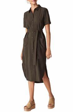 Save on Whistles Montana Longline Shirtdress Work Dresses For Women, Suits For Women, Khaki Shirt Dress, Bridal Dress Design, House Dress, Color Khaki, Work Fashion, Street Fashion, How To Look Classy