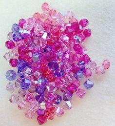 Swarovski Crystal Xillion Bicones Beads 144 pcs 1 gross Love Struck Mix Assortment by Gstrands on Etsy Light Amethyst, Swarovski Crystal Beads, The Flash, Jewelry Supplies, Jewelry Making, Rose, Pink, Handmade, Stuff To Buy