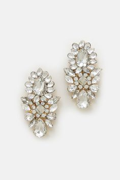 Madeline Chandelier Earrings in Crystal