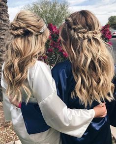 Looking for half up half down hairstyles, here are stunning Beautiful Half up and half down hairstyles for romantic brides + bride to be