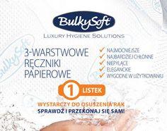 Nie przegap wyjątkowej okazji i skorzystaj z promocyjnej oferty ➡ https://www.higienaserwis.pl/produkty-bulkysoft/reczniki-skladane?promotional=true