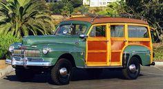 1946 Mercury Marmon-Herrington Woody by sally My Dream Car, Dream Cars, Classic Trucks, Classic Cars, Woody Wagon, Joy Ride, Wooden Car, Vintage Surf, Jeep Truck