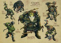 Lords of War - Orcs by Steve Cox, via Behance