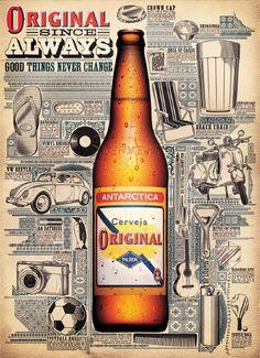 Poster Cerveja Original PDV - Pedro Zuccolini / Design - Illustration