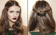 Gucci fall 2012 hairstyle