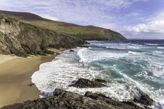 """The beautiful Coumeenole beach in Kerry is on the Dingle Peninsula close to Slea head and is a surfers paradise. Some of the scenes for the film """" Ryan's Daughter"""" were filmed on this beach Paradise, Landscapes, Scene, Beach, Water, Outdoor, Beautiful, Paisajes, Gripe Water"""