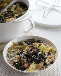 Cabbage-and-Kale Soup with Farro Recipe