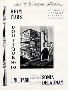 LOGO #5  HEIM FURS pour Sonia Delaunay, Exposition des Arts Decoratifs, 1925