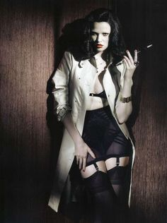 "The timeless trench... Lara Stone in ""Style Noir"" editorial, Vogue Italia, November 2009"