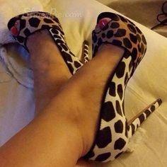 Wild Leopard Men's Love Peep-toe Heels