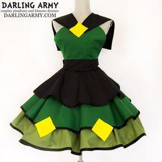 Peridot Angry Space Dorito Steven Universe Cosplay Pinafore Dress | Darling Army