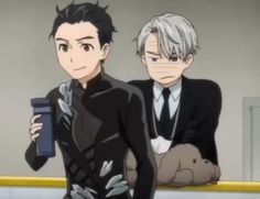 I just realised that every time Yuri performs his Eros during the Grand Prix, and he wears his fully black outfit, Viktor is wearing a black suit with a black tie. But when Yuri does his Yuri on Ice performance, wearing that blue costume, Viktor wears a blue-ish suit with a blue tie. What I'm implying is that Viktor totally wants to match with his boyfriend and I find that adorable and hilarious.