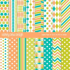 This digital paper set comes with 16 digital papers in JPG format saved at 300 dpi for high quality printing. SAVE WITH COUPONS!  Spend $10 and