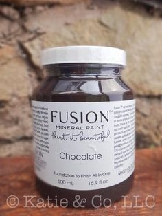 Chocolate Fusion Mineral Paint No wax needed, no fillers, zero VOC's, non-toxic. Best furniture paint available! Diy Pallet Furniture, Recycled Furniture, Paint Furniture, Cool Furniture, Furniture Ideas, Chalk Paint Brands, Foundation, Thrift Store Furniture, Bedroom Paint Colors