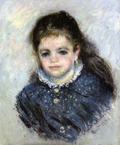 Portrait de Jeanne Serveau, 1880, by Claude Monet (French, 1840-1926)