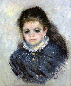 Portrait de Jeanne Serveau, 1880, by Claude Monet (French, 1840-1926)