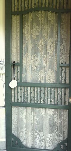 I just love old screen doors.  I can still hear the slam of my grandmother's back door.