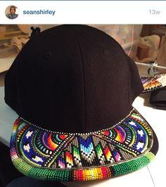 beaded native hats and headresses Native Beading Patterns, Beadwork Designs, Native Beadwork, Native American Beadwork, Loom Patterns, Beading Projects, Beading Tutorials, Beading Ideas, Bead Weaving