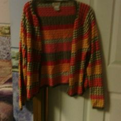 Multi color polka dot sweater Open sweater, very cute with jeans or dress slacks Talbots Sweaters