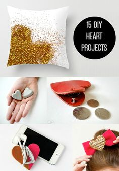 Everybody loves hearts - how could you not? These 15 DIY heart projects are perfect for Valentine's Day, or just to show your affection. Valentine Day Crafts, Be My Valentine, Holiday Crafts, Diy Craft Projects, Craft Ideas, Diy St Valentin, Cute Crafts, Diy And Crafts, Craft Gifts
