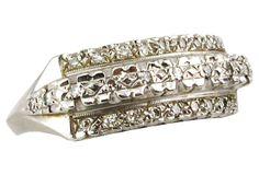 1940s White Gold  & Diamond Ring