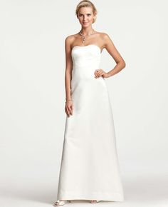 $550  Ann Taylor - AT Wedding Dresses - Layla Duchess Satin Strapless Wedding Dress