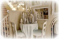 Shabby Chic Tiny Retreat Christmas Decorations In A Tiny
