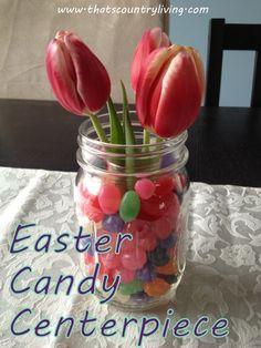 #Easter #Candy Jelly Bean Floral #Centerpiece