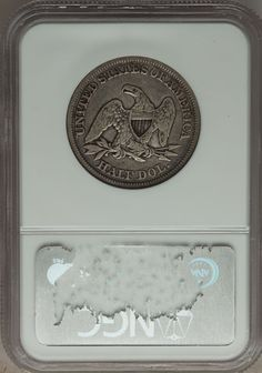 Seated Half Dollars: , 1858 50C VF30 NGC. NGC Census: (9/521). PCGS Population (12/603).Mintage: 4,226,000. Numismedia Wsl. Price for problem fre... Image #2
