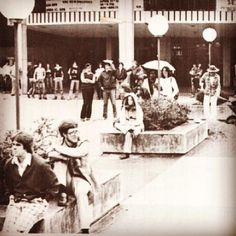 Students in 1979 enjoying the day on the plaza! #MarshallUtbt #tbt