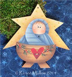 On Christmas Morn Ornament Kit Nativity Ornaments, Nativity Crafts, Painted Ornaments, Christmas Ornaments To Make, Christmas Nativity, Christmas Wood, Christmas Crafts, Christmas Decorations, Nativity Scenes