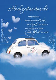 Hochzeitswünsche Gute Reise Ins Wunderland Der Liebe, Viel Spaß Auf Wolke 7  Und Himmlische Zeiten Voller Glück Für Euch!