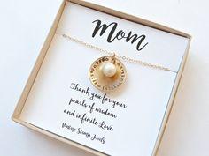 Personalized Mom Gold NecklaceMom GiftGrandma Necklace Nana