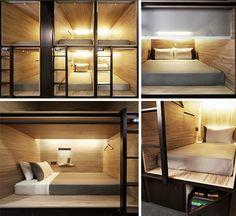 pod capsule bedroom details