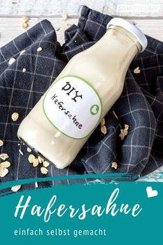 Hafersahne selber machen - vegane Sahne-Alternative Vegan Blog, Detox Soup Cabbage, Detox Salad, Smoothie Detox, Vegan Detox, Fat Burning Detox Drinks, Natural Vitamins, Kids Nutrition, Healthy Fats