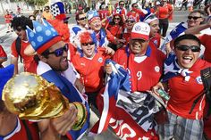 The 21 Most Dedicated World Cup Fans in Brazil Football Cheerleaders, Cheerleading, Chi Chi, Chile, Most Popular Sports, Soccer Fans, World Cup 2014, Fifa, Captain America