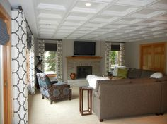 Cary Project - transitional - basement - chicago - Natalie Kirkpatrick Design, LLC