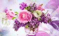 virágcsokor és dekoráció tavaszi virág anyák napja orgona